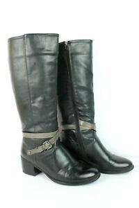 Boots Vice Versa Black Faux Leather T 3/UK 5.5 Very Good Condition