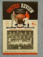 1953 - MANCHESTER UTD v BURNLEY PROGRAMME - 1ST DIVISION - 53/54