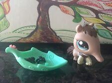 Littlest Pet Shop LPS RaRe SE Mail In Brown Anteater Blue Eyes Leaf Ants 1518 EC