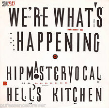 """HIP MASTER VOCAL - We're What's Happening (UK 2 Tk 1988 7"""" Single PS)"""