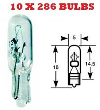 10X 286 INDICATOR  DASH CAR AUTO LIGHT BULB  BULBS 12V 1.2W SMALL WEDGE QTY 10