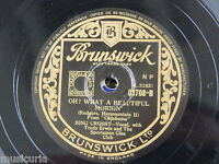 78rpm BING CROSBY oh what a beautiful morning / people will say we`re in love