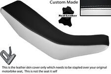 WHITE & BLACK CUSTOM FITS HONDA CRM 250 R 89-92 DUAL LEATHER SEAT COVER