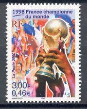 TIMBRE FRANCE NEUF N° 3314 ** LA FRANCE CHAMPIONNE DE LA COUPE DU MONDE 1998
