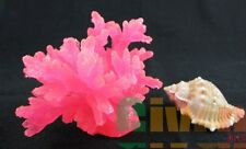 Aquarium Fish Tank Silicone Sea Anemone Artificial Coral Ornament SH066pink