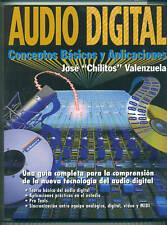AUDIO DIGITAL CONCEPTOS BASICOS Y APLICACIONES SPANISH MUSIC BOOK NEW ON SALE!!
