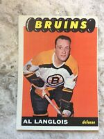 1965-66 Topps Set Break # 33 Albert Langlois EX-EXMINT *GMCARDS* R41