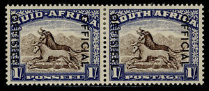 SOUTH AFRICA GVI SG O47, 1s brown & chalky blue, M MINT.