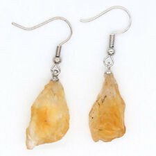 Natural Druzy Citrine Quartz Crystal Gemstone Beads Dangle Hook Wowen's Earrings
