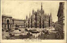 Milano Mailand Italia 1928 AK mit Briefmarke gel. Piazza del Duomo Platz am Dom