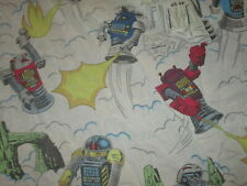 vtg 1980s ROBO FORCE FITTED SHEET Coptor Blazer Hun-Dred Maxx Bedding Size TWIN