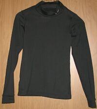 Boys Girls Youth XS Nike Fit Dry Black Long Sleeve Mock Turtleneck Warm Shirt