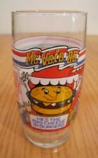 1986 McDonald's QUARTER POUNDER with CHEESE MC VOTE DRINKING GLASS CUP ELECTIONS