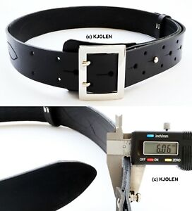 GARRISON THICK ¼ inch TWO HOLE TWIN PRONG BULLHIDE LEATHER MILITARY POLICE BELT