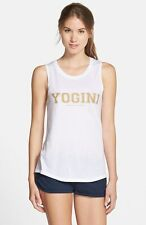 Spiritual Gangster Women's Yogini Muscle Tank in White Size SMALL S