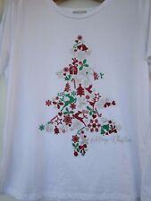 Ladies Target white Christmas Tee    Size 20   NWT