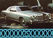 Print.  1975 Chrysler Cordoba Two-Door Specialty Hardtop Auto Ad