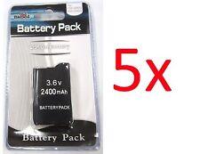 5 x PSP 2000 3000 (SLIM) Replacement Battery Packs 3.6v 2400 mAh