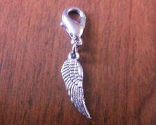 charms argentée aile d'ange 18x5 mm