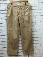 MENS GAP STRAIGHT FIT BEIGE CHINO TROUSERS  W34 L32