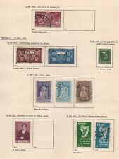 9 pages of   stamps from ireland all scanned