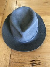 Royal Stetson Vintage Wide Brim Trilby Hat, Grey - Made in Australia Size 7/8