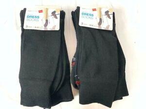 Hanes Men's Soft Dress Socks 6-Pairs (Black, Fits Shoe Size 6-12), NEW