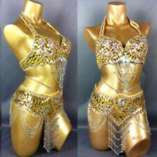 Belly Dance Bra AU 10C 12B 10C 8C Beaded Sequined Top Halter Neck Dance Costume