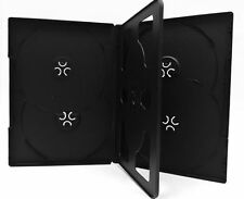 5 New Black Multi 6 Disc (hold 6 Discs) CD DVD Case Box Storage with Tray 14mm