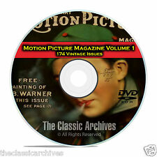 Motion Picture Movie Magazine, Volume 1, 174 Issues, 1911 - 1925, DVD CD C11