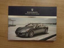 Maserati Grancabrio Owners Handbook Manual