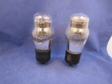 Pair of Type 45 Tubes - Engraved base Raytheon and RCA - Hickok Tested