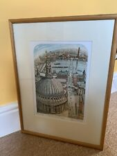 "GLYNN THOMAS RE b1946 Artist's Proof ETCHING ""The Dome Of St Paul's"""