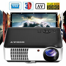WiFi 4K 3D Full HD 1080P LED Projector Mini Home Cinema Bluetooth BG