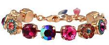 "MARIANA Pretty ""Sorbet"" Swarovski Crystal Large Gem Rose Gold Tennis Bracelet"