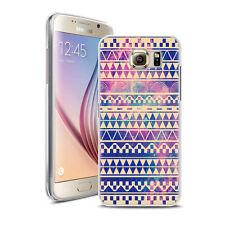Coque Housse Samsung S 7 + Verre Trempé 9 H - Motif Azteque