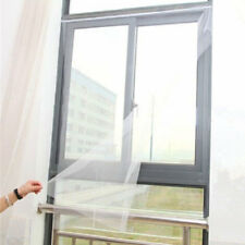 DIY Mesh Window Magic Curtain Snap Fly Insect Mosquito Screen Net White