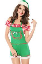 Sexy Women's Green Christmas Forest Elf Santa's Helper Fancy Dress Costume