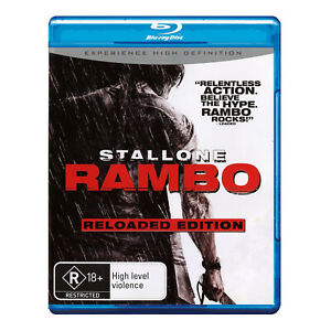 Rambo Reloaded Edition Blu-ray Brand New Region B Sylvester Stallone - Free Post