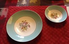 Cunningham & Picket Pattern Danube Turquoise Soup Bowl