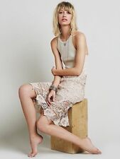 NWT Free People Nora Crocheted Lace Overlay Tunic Tank Dress Size M MSRP $128