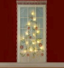"""Lighted Christmas Tree Curtain Panel 84"""" x 40"""" FREE SHIPPING..BRAND NEW..."""