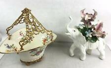 Capodimonte Porcelain Elephant W/ Flowers Lot 3345