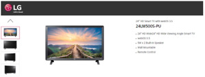 """LG 24"""" LM500S LED 1080p Smart TV WebOS w/ Remote - FREE FAST SHIPPING"""