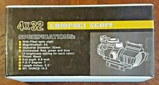 Spike 4x32 Fixed Power Compact Scope Cqb New Unopened Fast Free Shipping!
