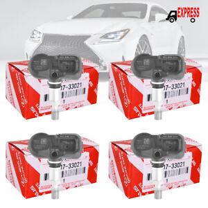 (4) 42607-33021 PMV-107J TPMS Tire Pressure Sensors For Toyota Lexus US