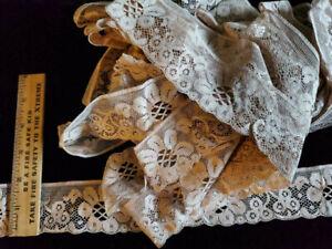 Vintage/Antique Cotton Lace, brown 10 Yards