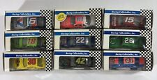 New In Box Lot Nine (9) Racing Collectable NASCAR 1:64 Scale Race Cars From 1991