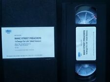 """Manic Street Preachers *RARE* """"A Design For Life (Adult Version) VHS promotional"""