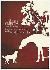 PET SYMPATHY Card ~ LOSS OF HORSE OR DOG ~ Earth friendly materials ~ USA!